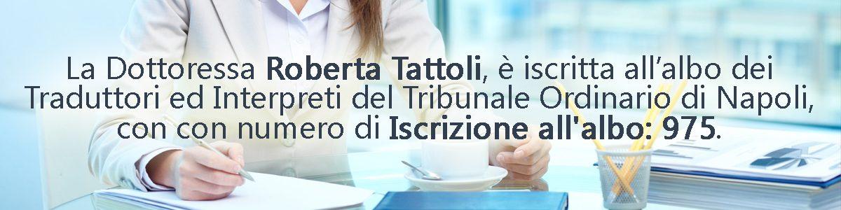 Traduzioni Giurate Napoli | Dott.ssa Roberta Tattoli